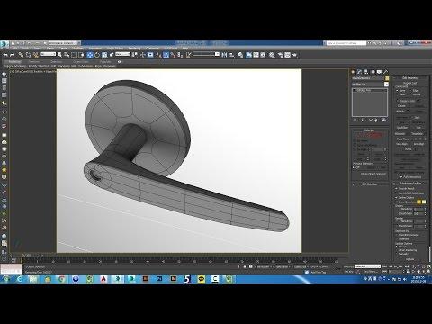 3dsmax Modeling 문손잡이, door handle
