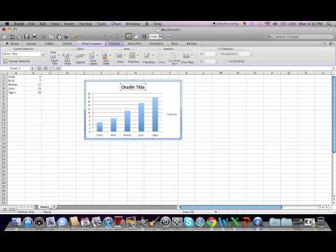 How to make a bar graph in Microsoft Excel