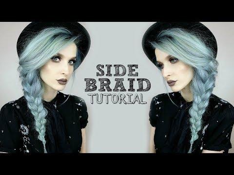 Side Braid + Hat Hairstyle