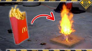 Liquid OXYGEN vs. Fast Food - on 4K vs 8K TVs