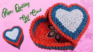 Quilling Gift Box Ideas DIY Heart for Valentine and Birthday # Paper Quilling Art