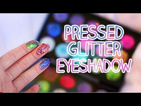 DIY pressed Glitter Eyeshadow / Make your own pressed glitter eyeshadow at home