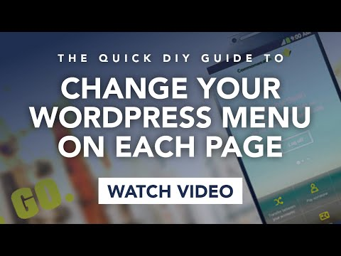 WordPress! Change the WordPress Menu to be different on each page