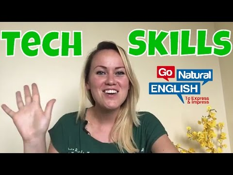 How to Describe Tech and Computer Skills in English for my CV or Resume? + Online English Lessons