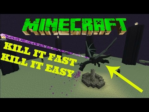 Minecraft Fastest Easiest Way to kill The Ender Dragon Simple Xbox Ps4 Pc PE Tutorial