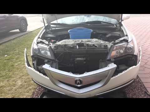 Acura mdx 2011 headlight  bulb replacement.Bumper removed instructions.