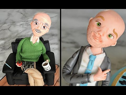 Father cake topper | 80th Birthday cake ideas for dad / him