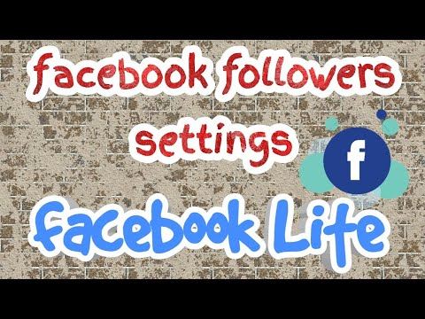 How to change FB Followers settings on FB Lite App?