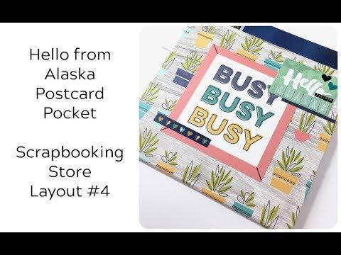 Scrapbooking Store Kit - Layout #4:  Postcard Pocket Insert