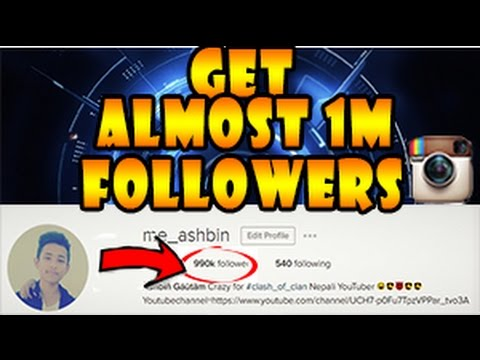 easy way to get 1m followers on instagram in 1 minute without any software100% working