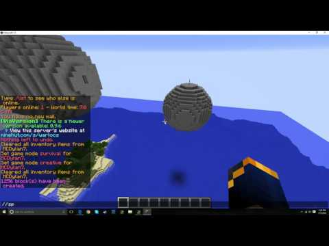 How to Make a Sphere in Minecraft Using World Edit