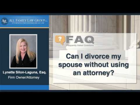 Can I divorce my spouse without using an attorney?