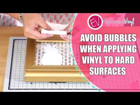 Applying Vinyl to Hard Surfaces Without Getting Bubbles
