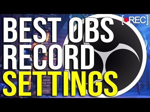 Best OBS Recording Settings 2019 ! 🎥1080p With 60 FPS! (NO LAG)