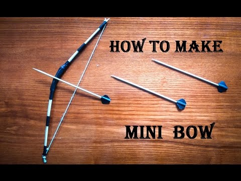 How to make a Mini Bow and Arrow - Craft For Kid