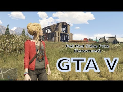 GTA V Ped Mod Chloe Price (Retextured) Showcase and Installation
