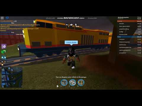 Kid Trolls 10 Year Old Kid in Jailbreak and Gets Hit By a Train