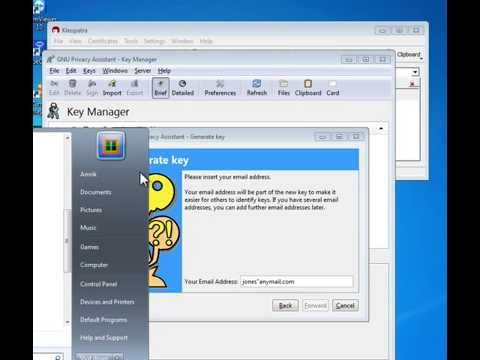 GPG4WIN, GPG, APG and K-9 Mail - file, folder, email encryption, decryption