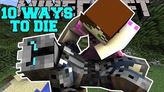 Minecraft: MOST INSANE DEATHS! - 10 WAYS TO DIE - Custom Map