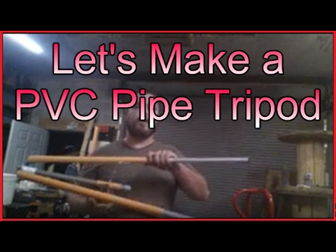 Making a tripod from PVC pipe