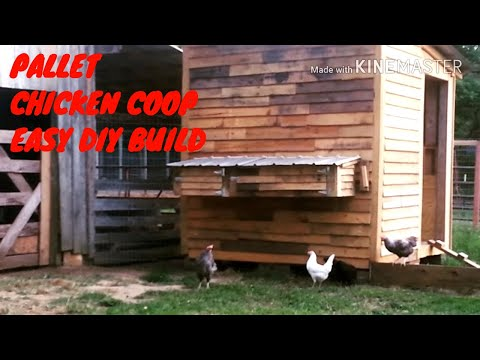 DIY - HOW TO BUILD THE BEST PALLET CHICKEN COOP EVER - slideshow (part 2)