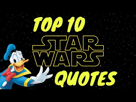 Donald Duck Voice Reading - 10 Famous Star Wars Quotes