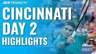 Federer and Djokovic Cruise; Wawrinka Wins Epic v Dimitrov | Cincinnati 2019 Day 2 Highlights