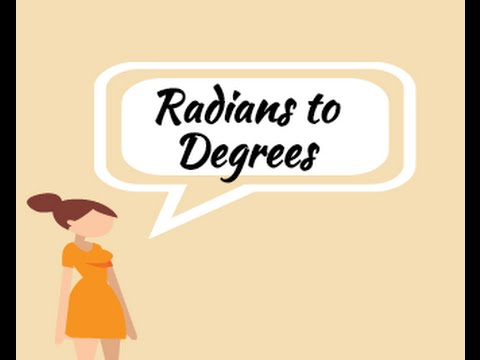 Radians and Degrees and converting between them part 2