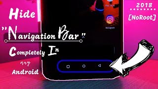 How To hide Navigation Keys On Android devices (no root