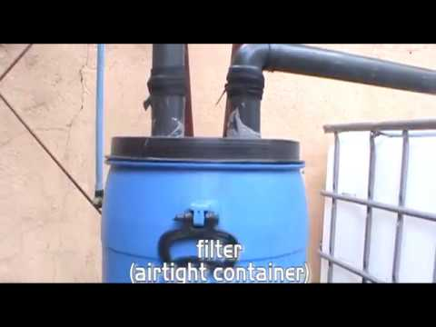 Simple Rainwater Harvest with Filtering System