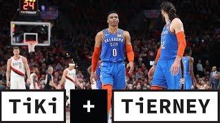 Westbrook Struggles in Game 2 | Tiki + Tierney
