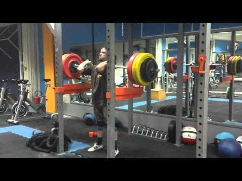 Front squat, from rack, 165kg x4