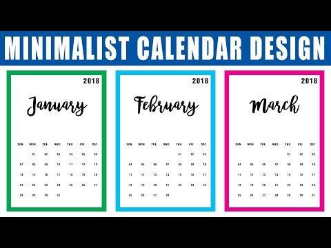 How to make a Calendar in Photoshop CC, Calendar Design | New Year Calendar