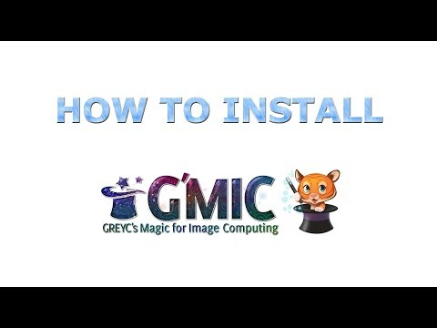 How to Install The G'MIC Plugin - GIMP Tutorial