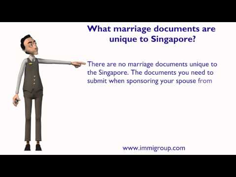 What marriage documents are unique to Singapore?