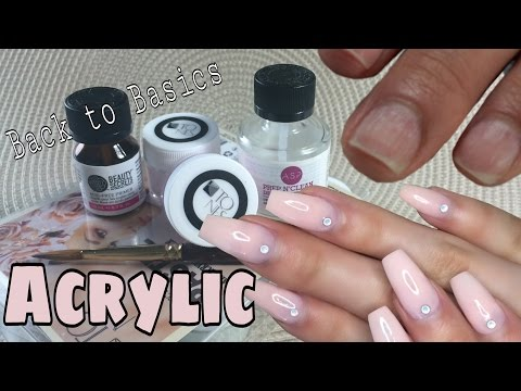 Nude Acrylic Full Set Tutorial | DiamondBeauty.Ca