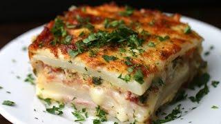 Layered Ham & Cheese Potato Bake