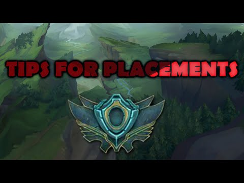 PLACEMENT GAMES TIPS - How I Got 9-1 - League of Legends
