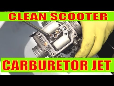 How to clean jets and carburetor on a gy6 150 cc scooter