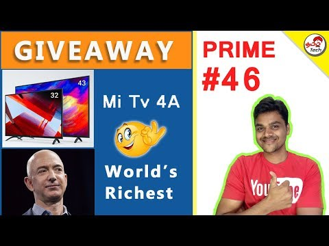 Tamil Tech Prime 46 : Giveaway , MiTv 4A , Redmi 5 , Vu Tv , Worlds richest