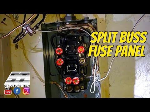 Split buss fuse panel