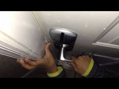 Opening a locked hotel door with a credit card