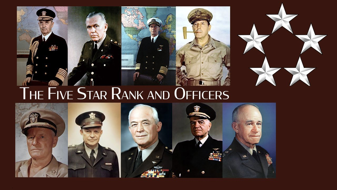 The Five Star Rank and Officers