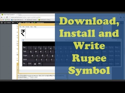 ₹ Rupee Symbol-Download Rupee Font, Install and Write [Step by Step]