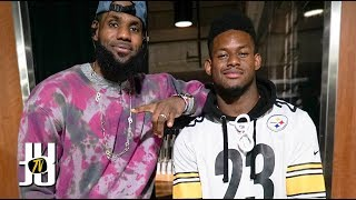 JuJu Meets and Recruits LeBron James to the Steelers