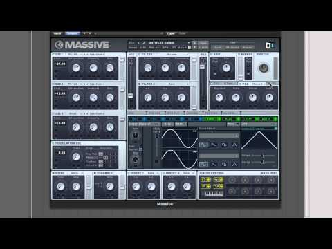 NI Massive Tutorial : How to make a Skrillex Growl Wobble (Dubstep)