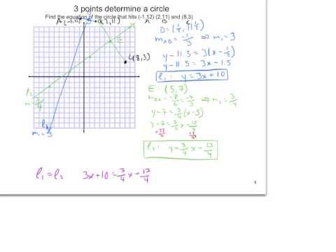 2XU3L1I3 three points determine a circle
