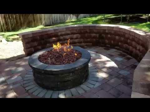 Raised paver patio and walkway