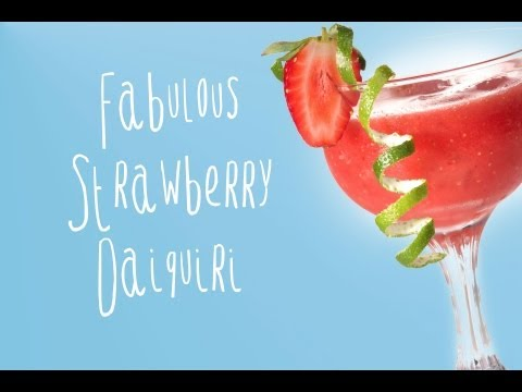 Strawberry daiquiri recipe, easy and delicious!