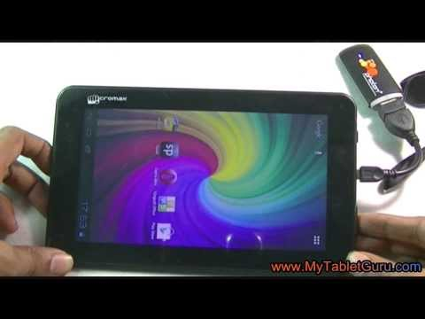 Micromax Funbook tablet connection with Tata photon+ dongle